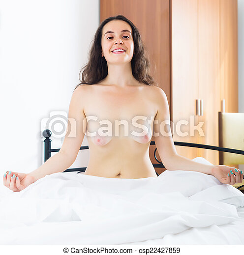 topless girls in bed